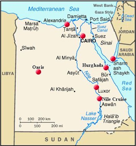 FrickWiki Egypt - Map of egypt's natural resources